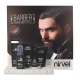 Nirvel Barber férfi szépség ápoló csomag kiállító álvánnyal