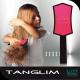 Hajkisimító és szuper hajbontó kefe TANGLIM-pink