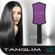 Hajkisimító és szuper hajbontó kefe TANGLIM-viola