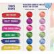 Hajszínező extrém élénk és pasztell hajszínekhez Candy Colors csomag