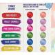 Hajszínező extrém élénk és pasztell hajszínekhez Candy Colors