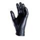 Gumikesztyű erős fekete nitril 100db GUA565 M-es